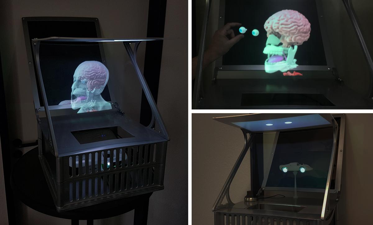 EXCIT3D druckt Hologramm-Projektor