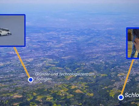 Virtual Reality von EXCIT3D steuert reales Avatar-Fahrzeug in der Ferne